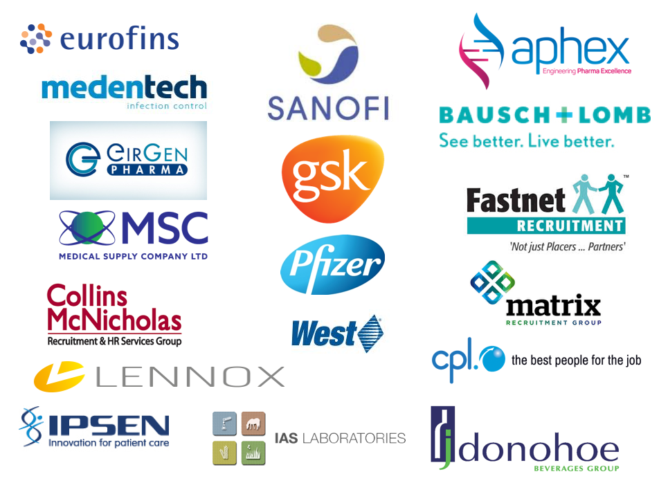 Company logo's - Lab Sciences Careers Day 7 March 2018