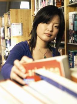 International Student in Library