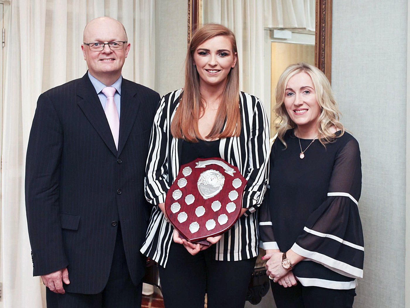 Dr Thomas O'Toole, Dean (Head) of the School of Business at WIT, Aoife McAuliffe, winner (Bachelor of Business (Hons) – Marketing specialisation), Dr Ethel Claffey, Stream Leader - BBS (Hons) Marketing.