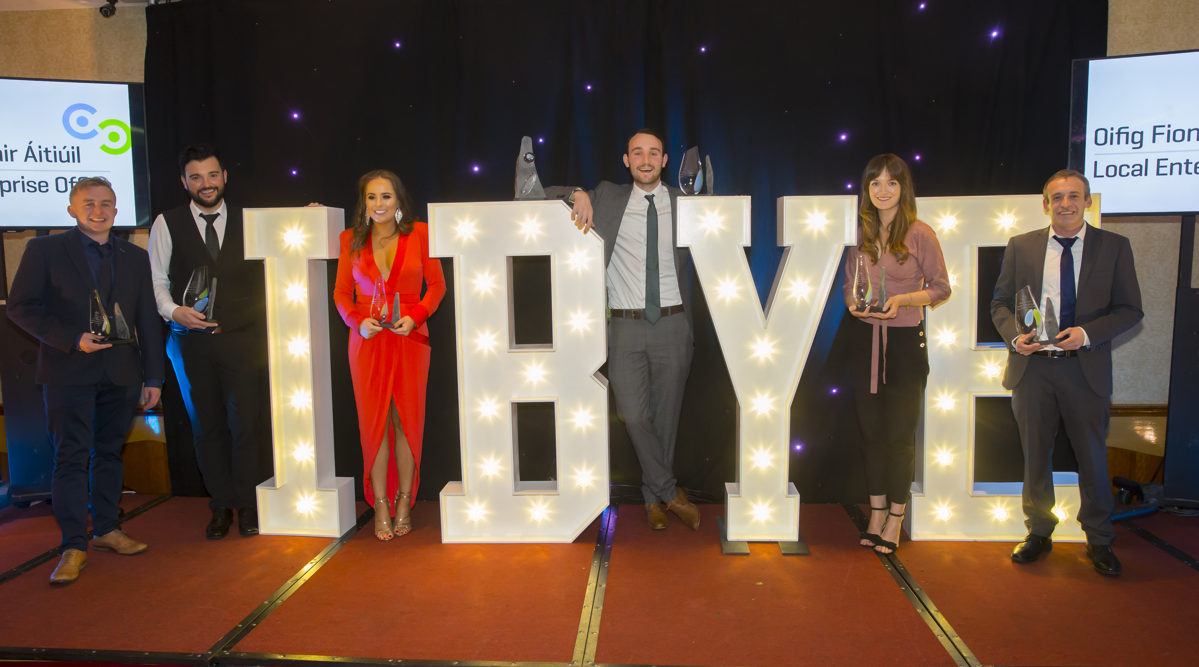 IBYE Waterford awards night 2017 including Conor Walsh (far left)