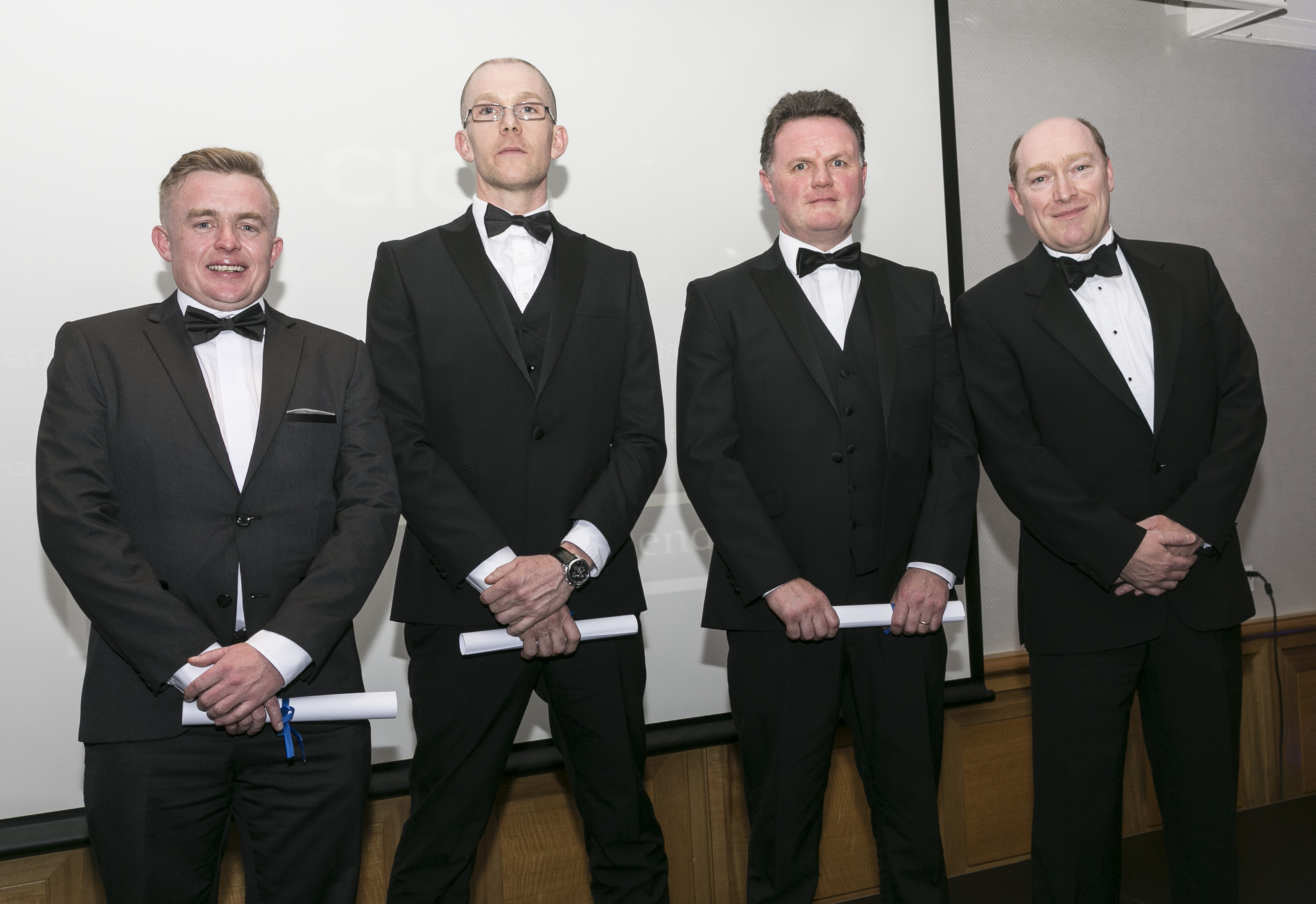 2017 CIOB challenge winners Mark Sheridan, Conor Walsh, Jason Fitzgerald and Anthony Browne, were invited to the Construction Manager of the Year Awards (CMYA) in Dublin.