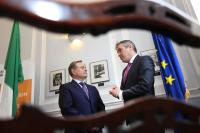 Pictured are (l-r): Minister for Public Expenditure and Reform Brendan Howlin T.D and Enda McDonnell, Enterprise Ireland