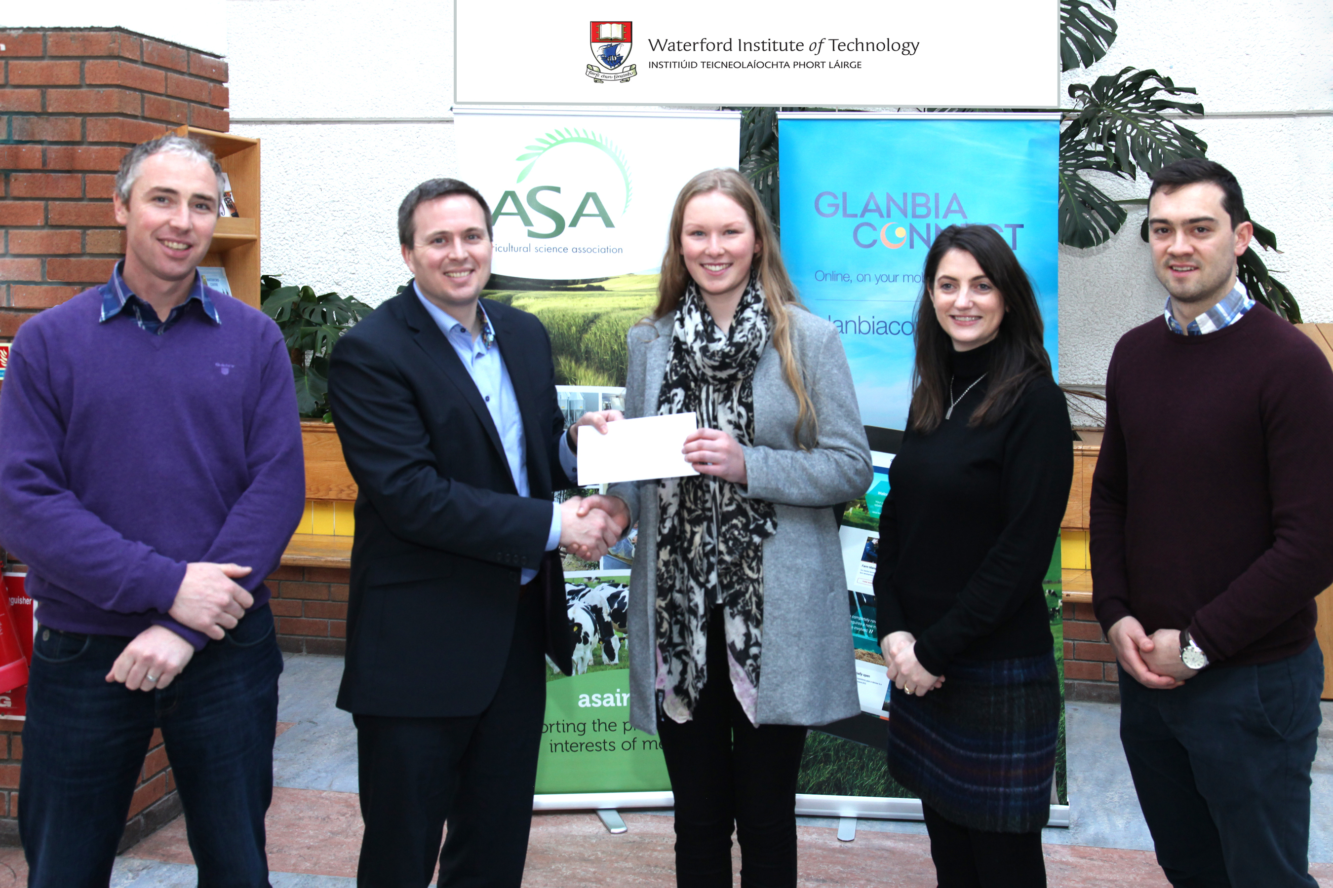 The winner of the ASA/WIT Travel bursary in association with Irish Farmers Journal and Glanbia was second year BSc in Agriculture student Ailish Osborne from Ballinamona, Kilkea, Castledermot, Co Kildare.