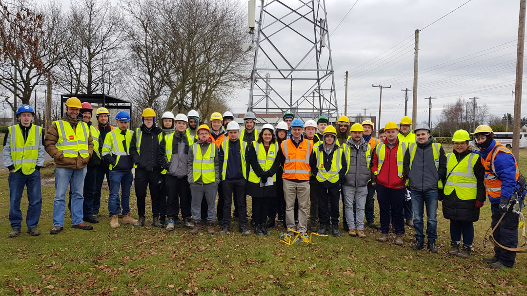 Electrical Engineering Students visit ESB Training Facility at Portlaoise