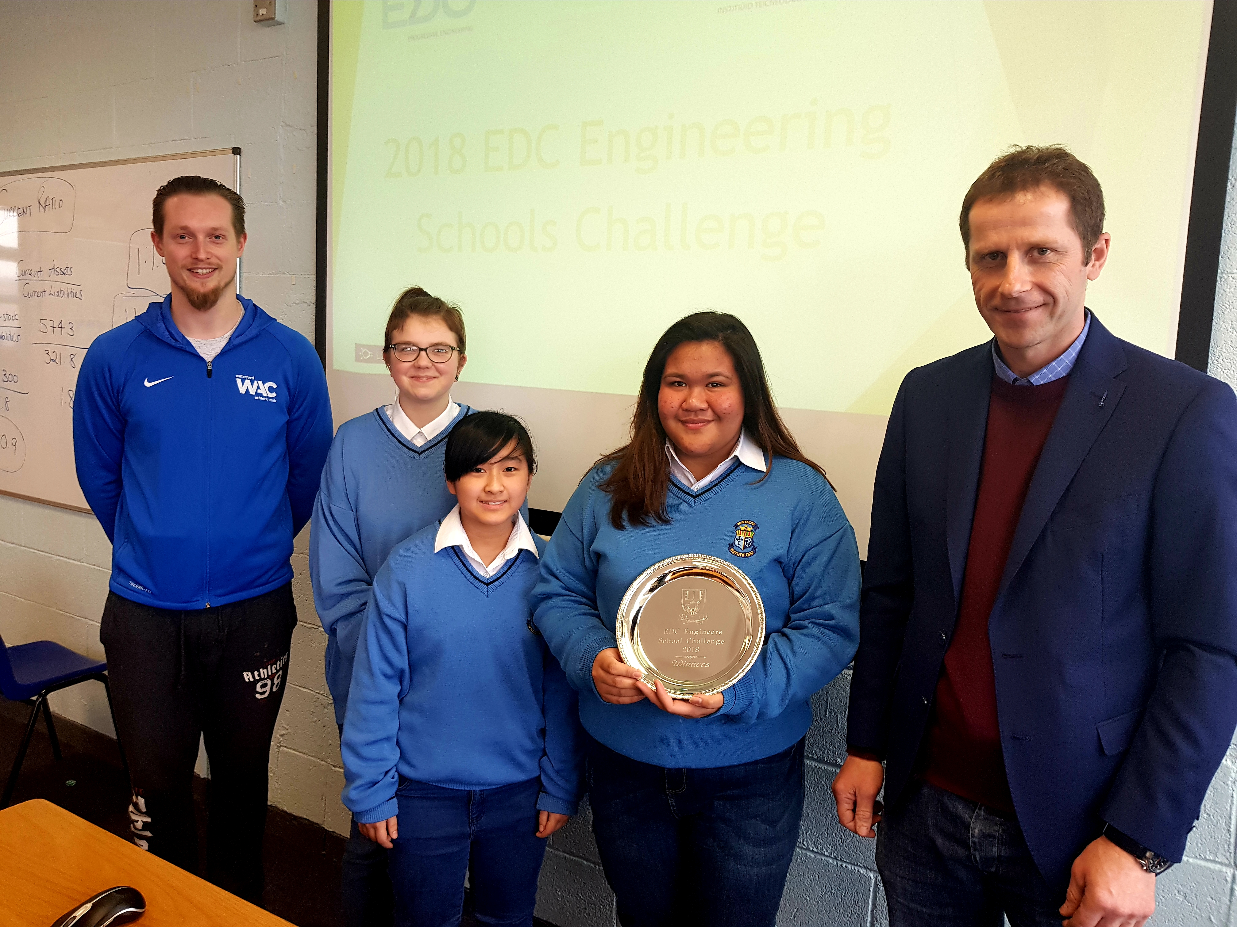 Mercy Secondary School Waterford winners of the EDC Engineering challenge
