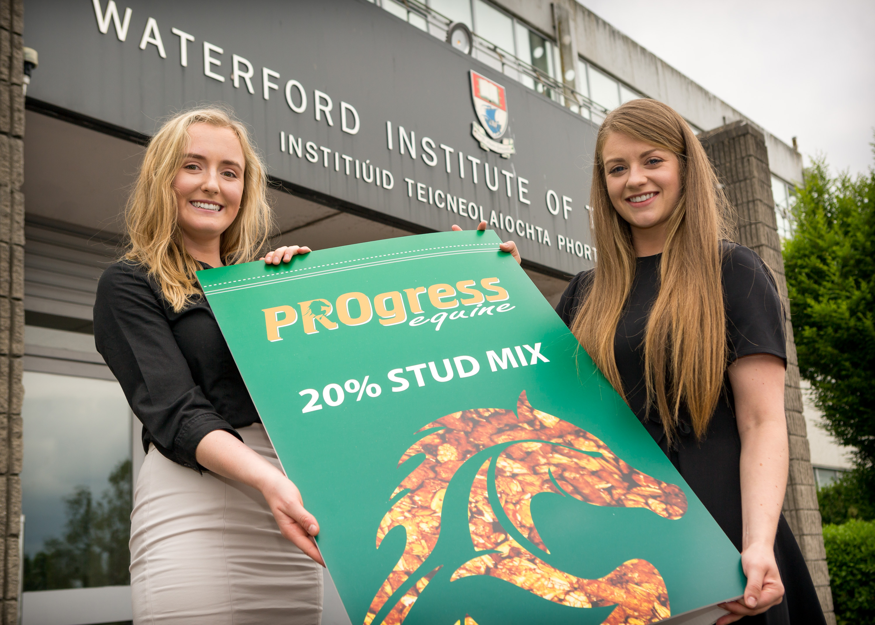 WIT Student Lorna Power from Lismore Co. Waterford (right) pictured with her business partner, Emma Murphy from Cashel, Co Tipperary (left) in advance of the final of the Enterprise Ireland Student Entrepreneur Awards