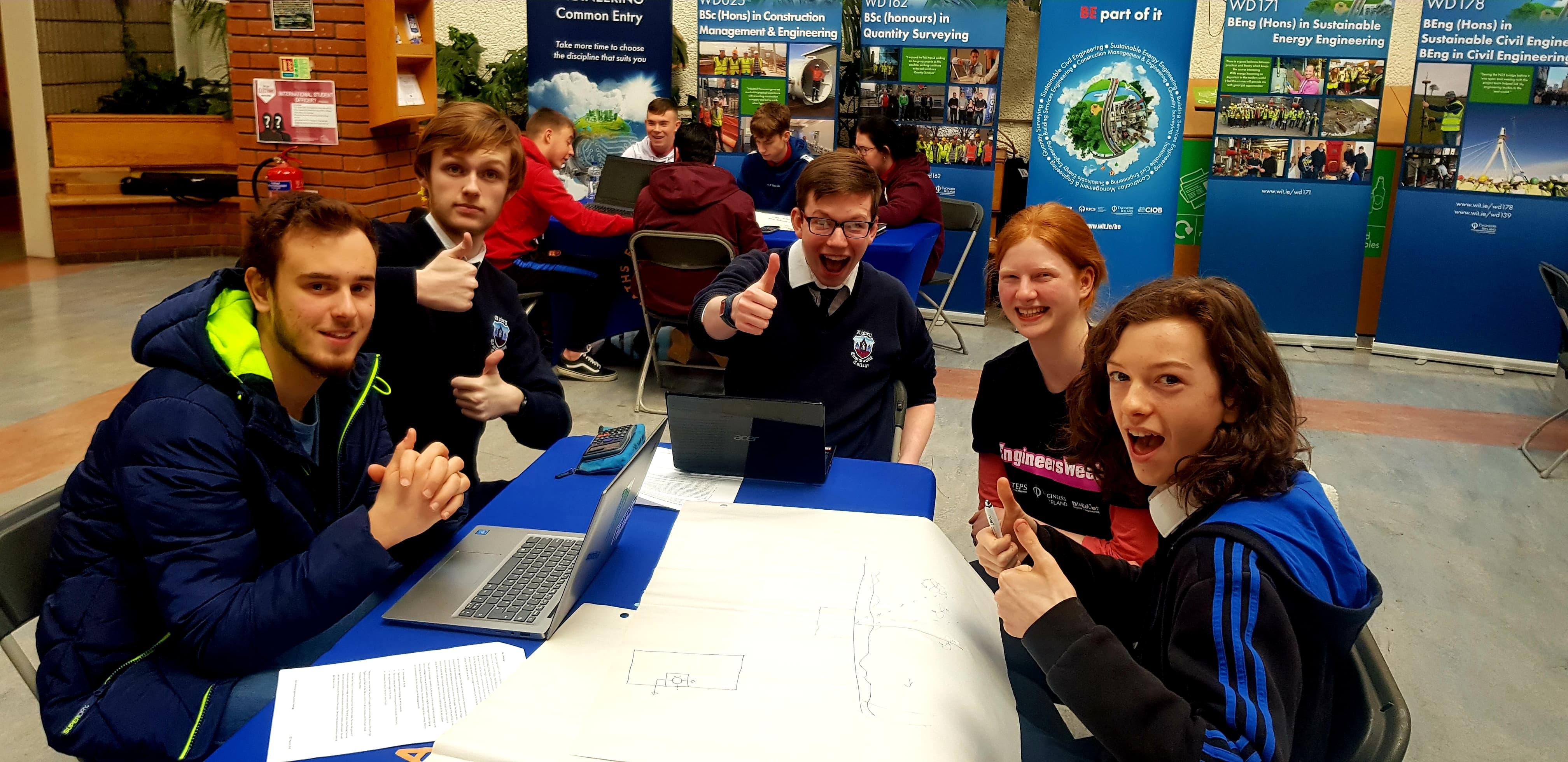Local Waterford Schools took part in the engineering challenge as part of Engineers week