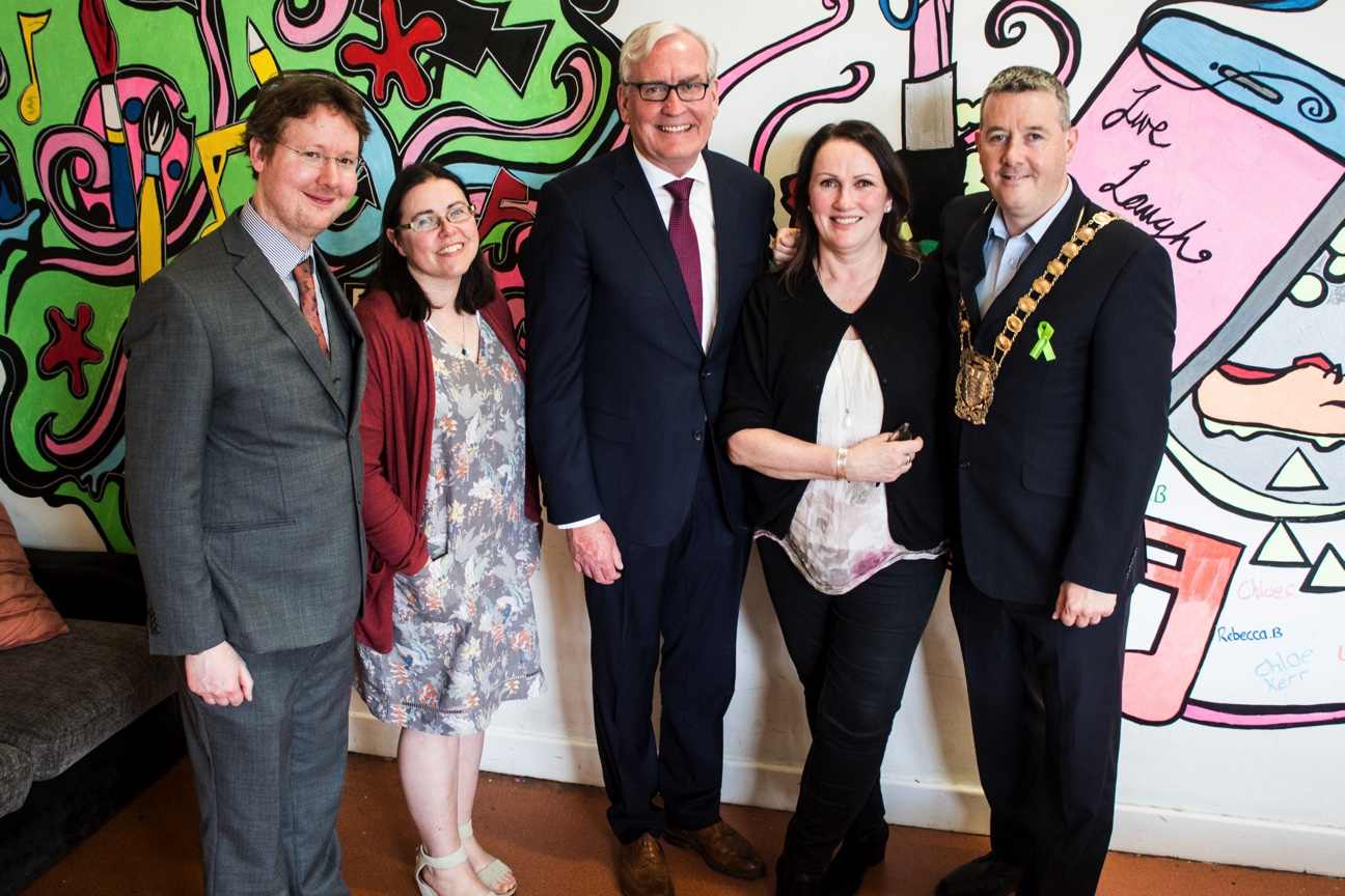 Shane Dempsey (Arc Mediation), Dr Sinead Conneely (WIT), Canadian Ambassador to Ireland Kevin Vickers, Dr Róisín O'Shea (Arc Mediation) and Mayor of South Dublin Cllr. Paul Gogarty.