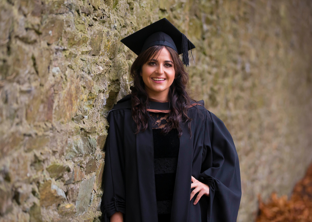 Graduate of the Bachelor of Business (Hons) at her graduation November 2016, Claire Ahearne