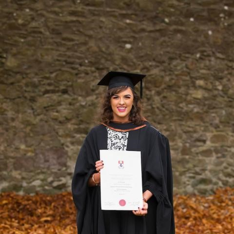 Business with French graduate, Lisa McGrath at her graduation, November 2016