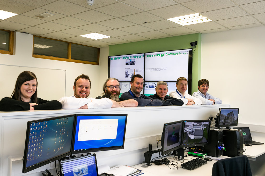 The team at the  Building Information Modelling Collective (BIMC) lab in WIT