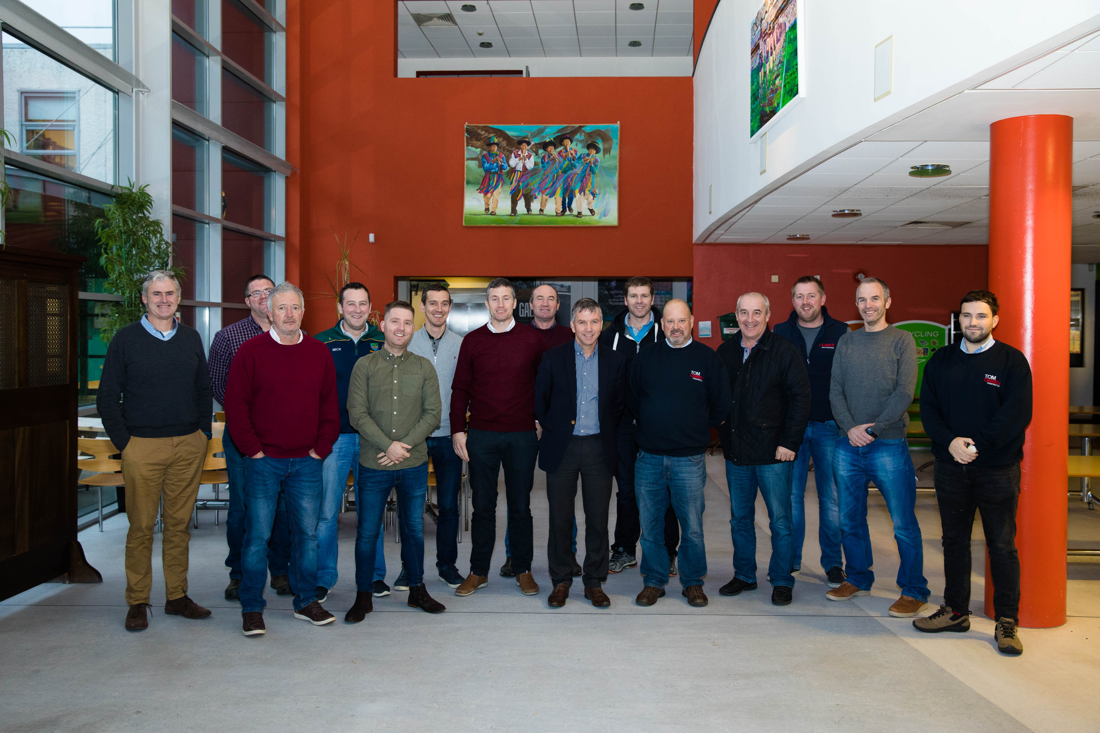 BSc in Construction Site Management classgroup with their lecturers welcome John O'Shaughnessy of Clancy Construction