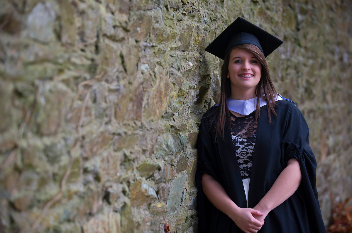 Recipient of the Intel Women in Technology Award, Jenny Ball, at her graduation from the BEng in Electronic Engineering at WIT