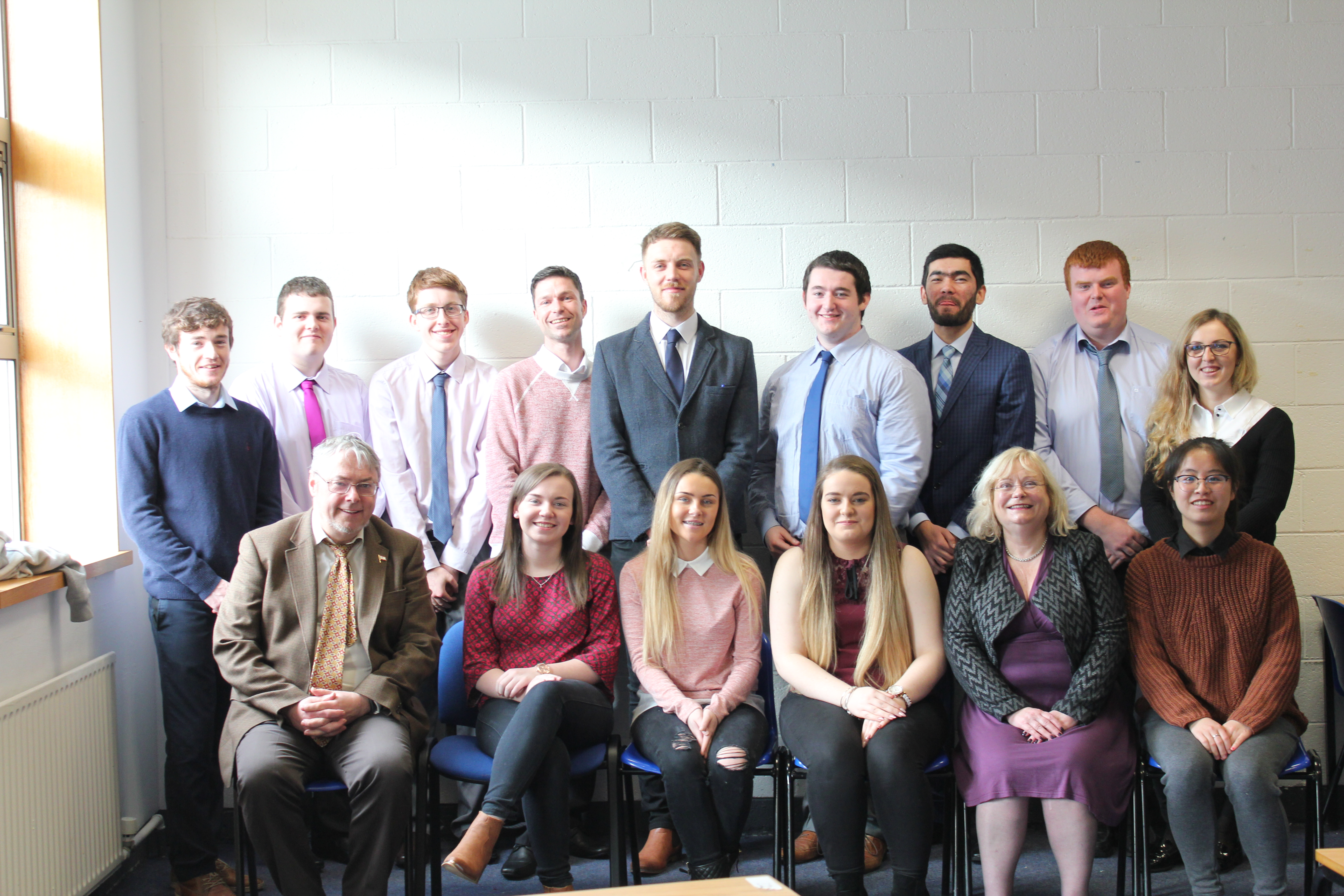 Pictured are WIT accounting students with lecturer John Maher