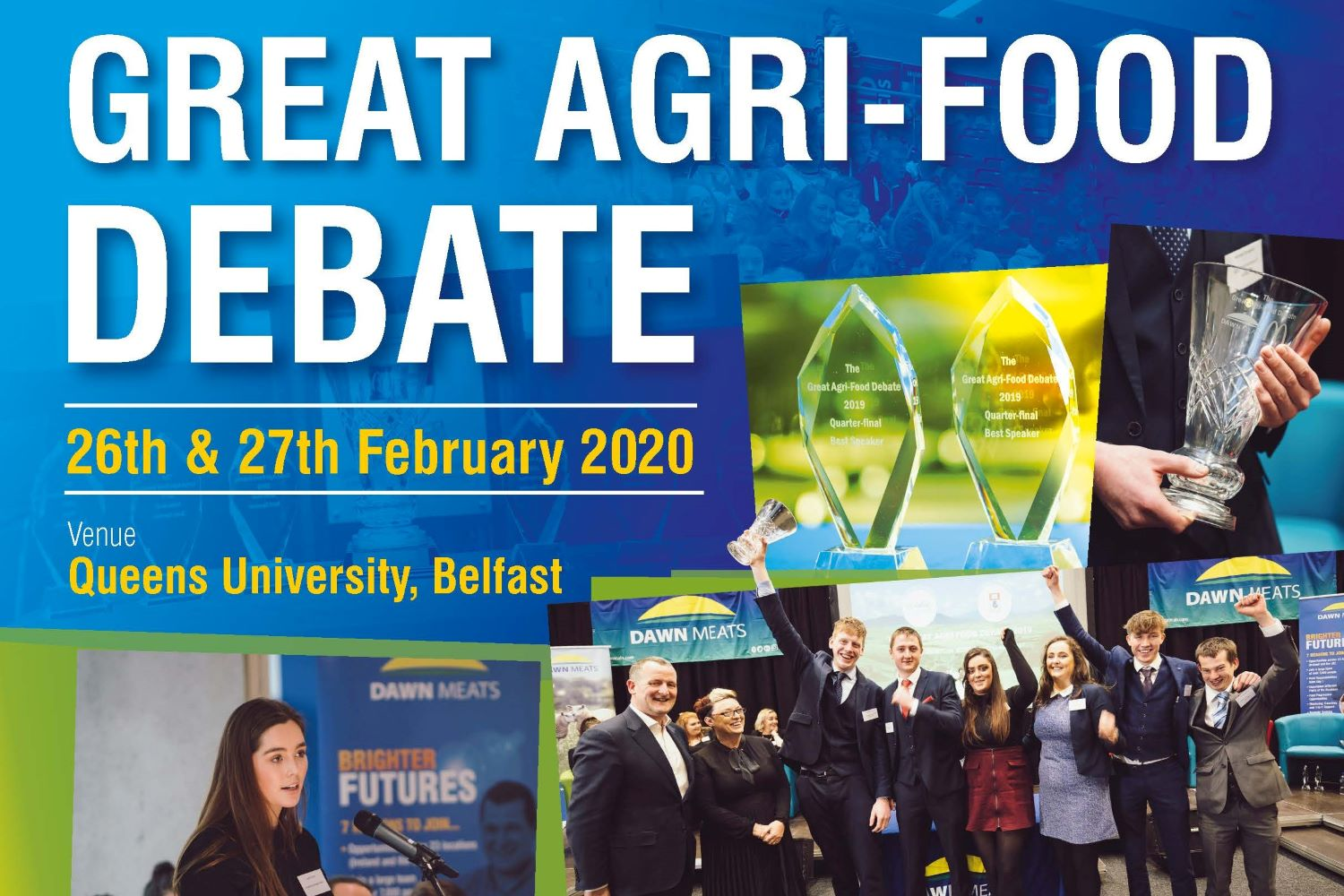 The Debate is a joint initiative between Dawn Meats & McDonald's and this is the first year the competition will be held in Northern Ireland, reflecting the importance of all-island dialogue in addressing some of biggest issues affecting farming today.