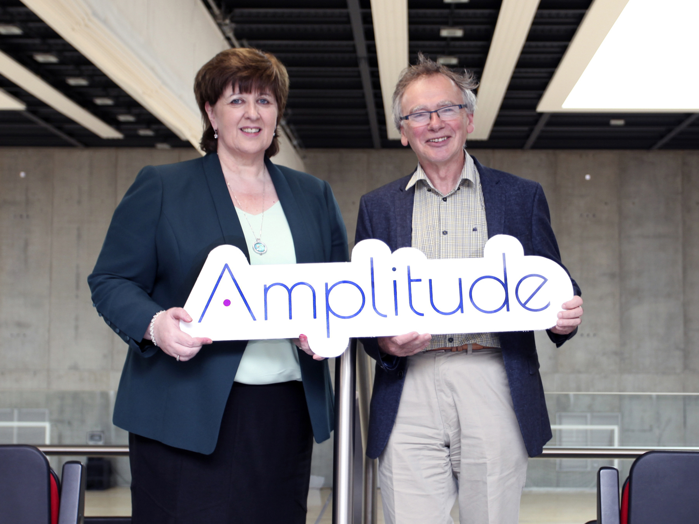 Pictured launching the Amplitude conference at the WIT Arena are Dr Patricia Mulcahy, President IT Carlow and Prof Willie Donnelly, President WIT.