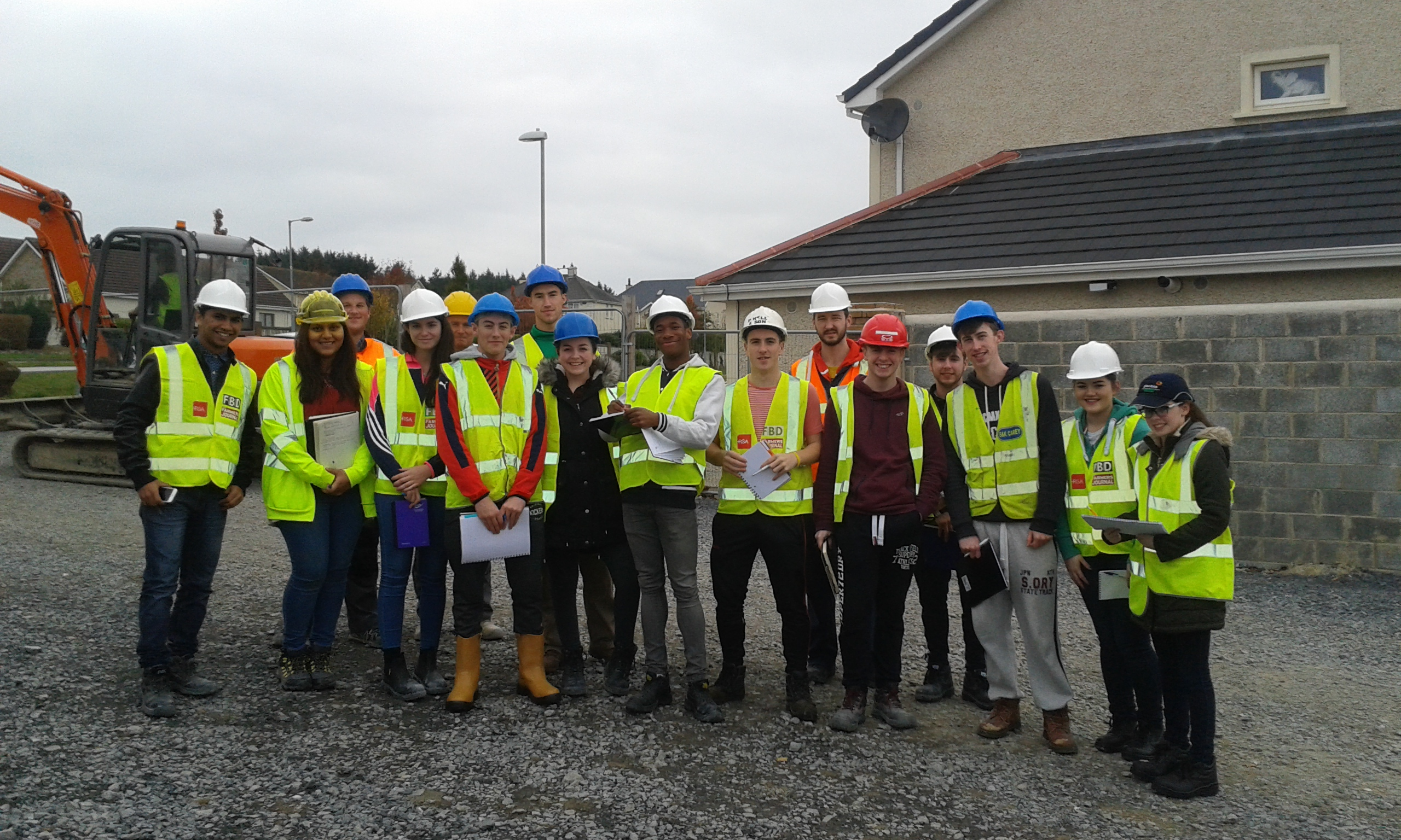 Architectural Site Visit to J&B Neville Construction Residential Development October 2016