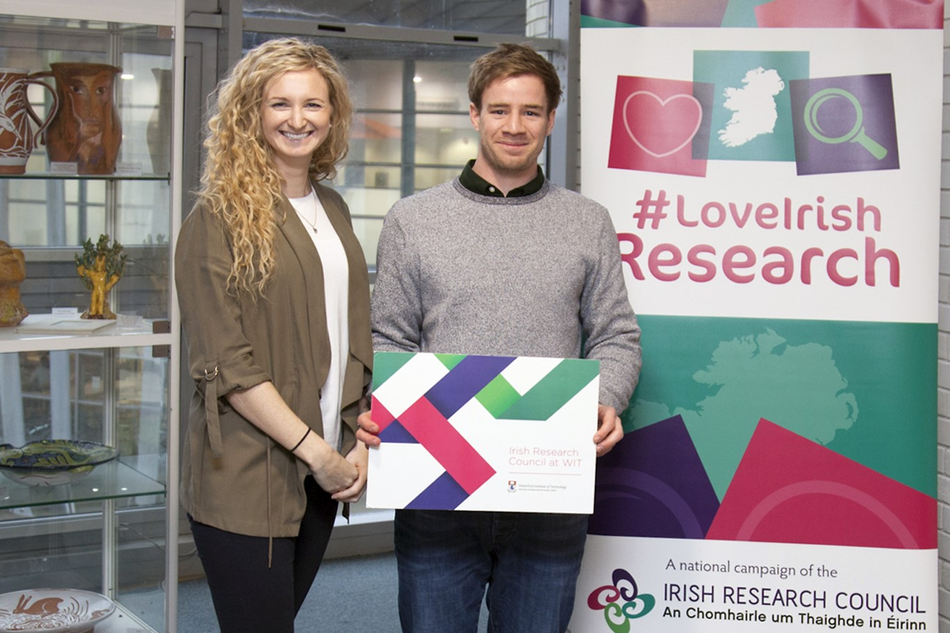 Pictured are Dr SarahJane Cullen and Arthur Dunne