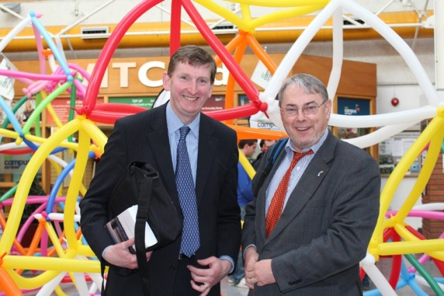 Martin O'Sullivan Finance Director of the Arts Council and John Maher, School of Business