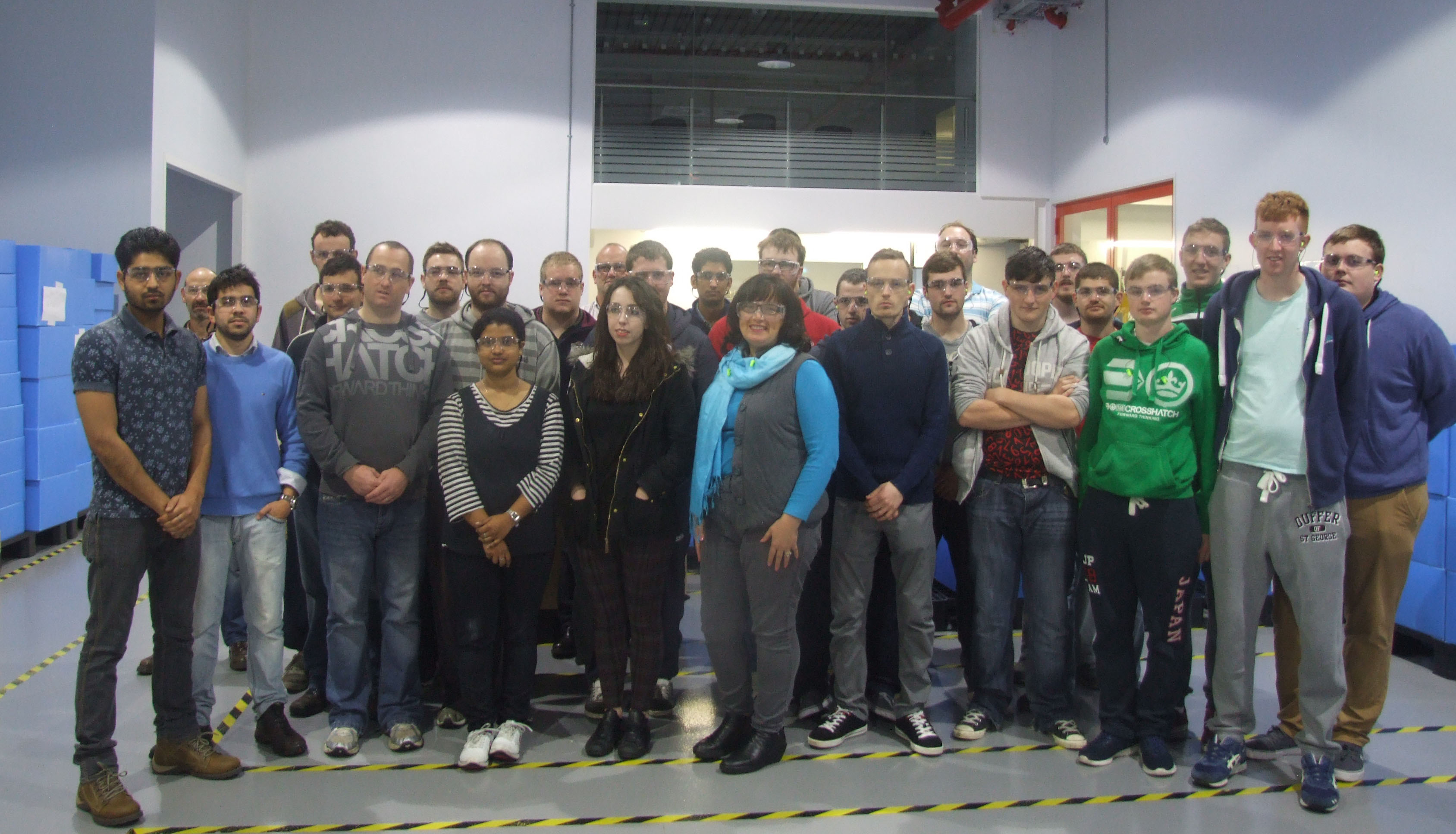 The BEng in Manufacturing Engineering and MSc in Innovation Technology students from WIT visit Nypro Healthcare