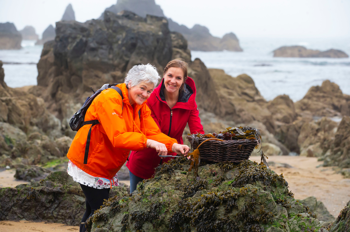 Pictured  ahead of the Bealtaine Living Earth Festival across the South East are Marie Power aka The Sea Gardener and Dr Cordula Weiss of Calmast WIT on Kilfarassy beach, Co. Waterford. Picture: Patrick Browne