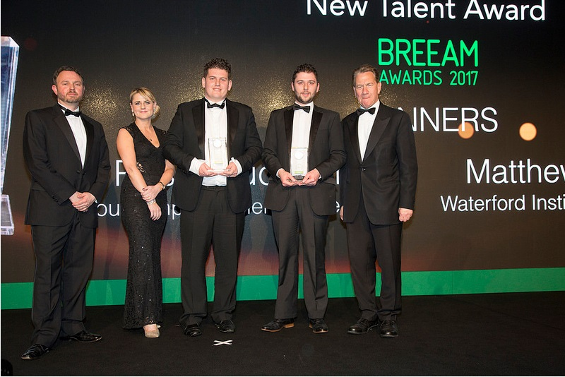 Matthew Theloke, second from the right, at the BREEAM awards held in London