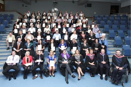 Award Winners 2012-2013 with Business School Staff