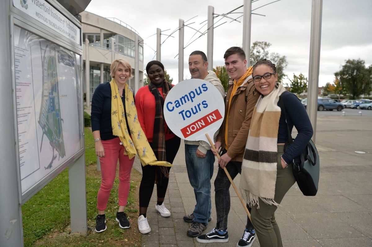 Campus tours can be booked online year round and run weekdays in one hour slots 10am-3pm