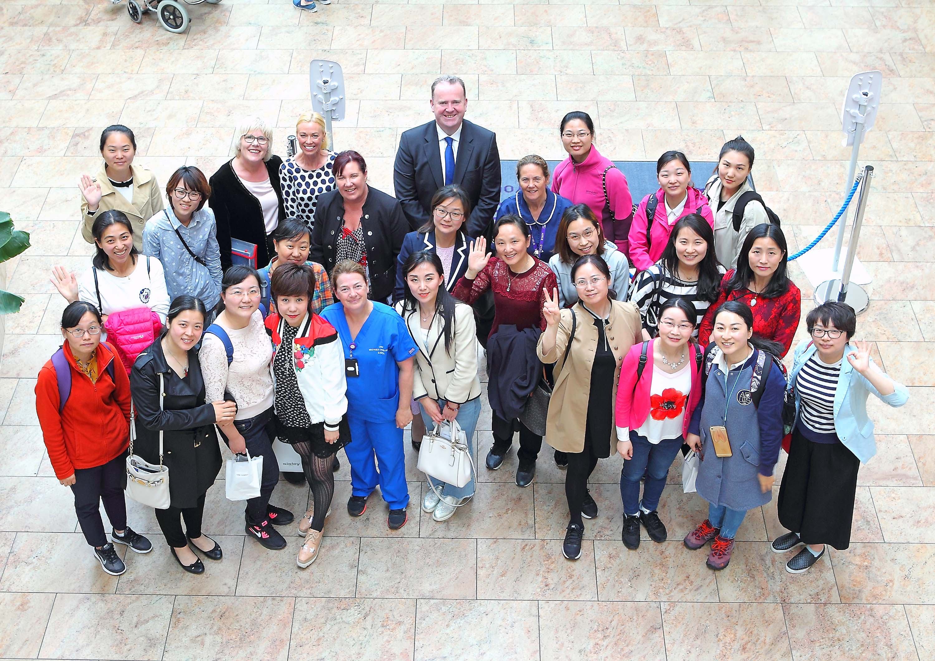 The delegation of specialist nurse managers from China with staff of UPMC Whitfield Cancer Centre and Whitfield Clinic. (Image:  Noel Browne)