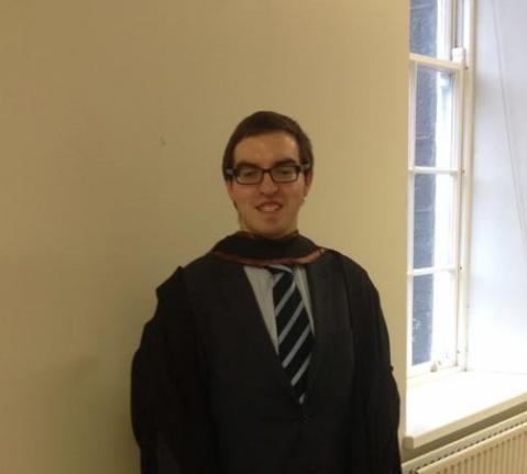 LLB Bachelor of Laws graduate Colm Brady