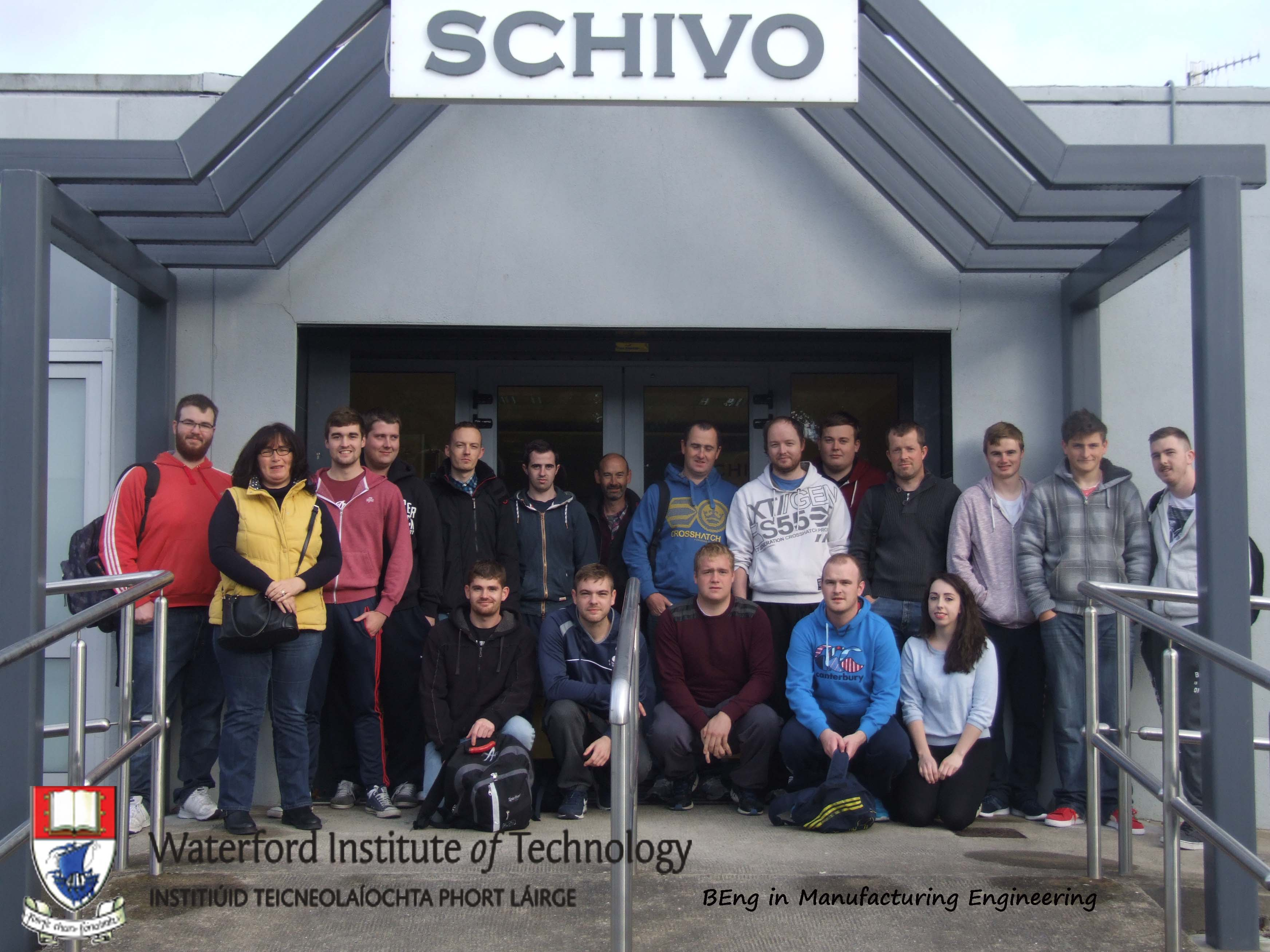 The BEng in Manufacturing Engineering students visit Schivo