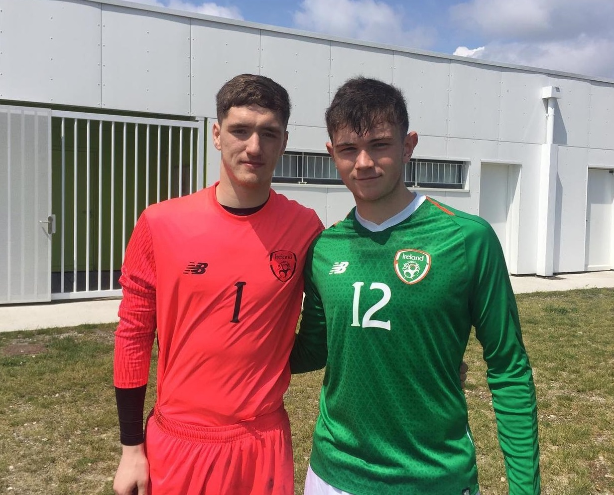 Paul Martin and Darryl Walsh in Bordeaux with the Colleges and Universities national team