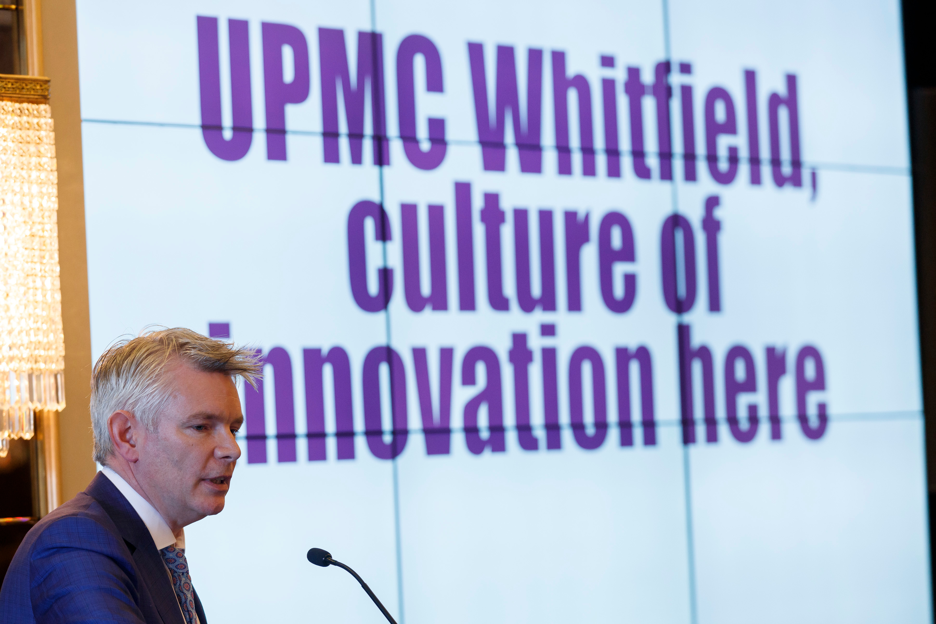 Pictured is David Beirne, CEO at UPMC Whitfield