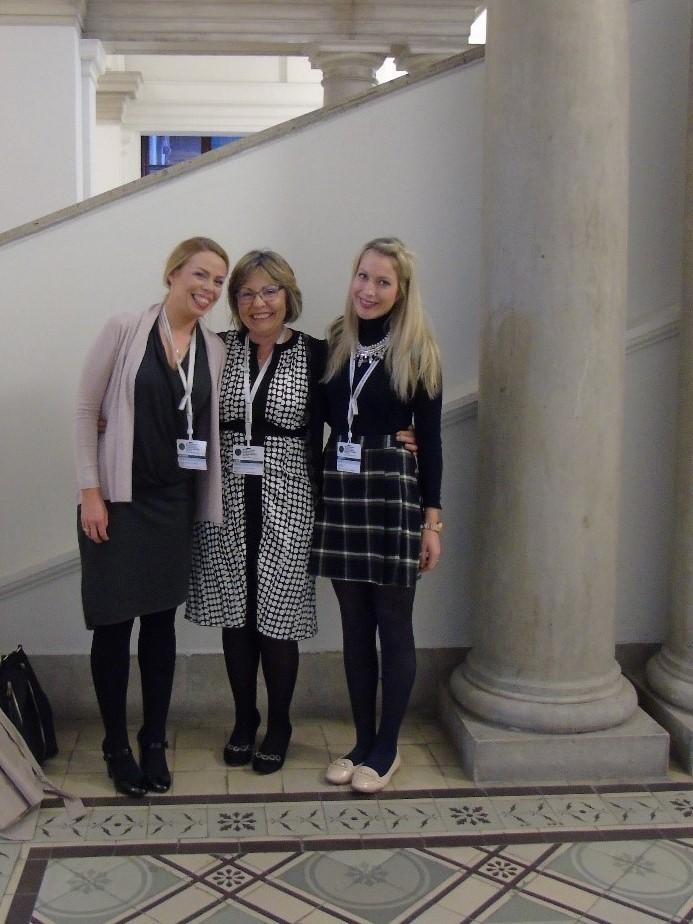 Dawn Smyth, Layla Hughes  & Dr Paula Lane in Vienna