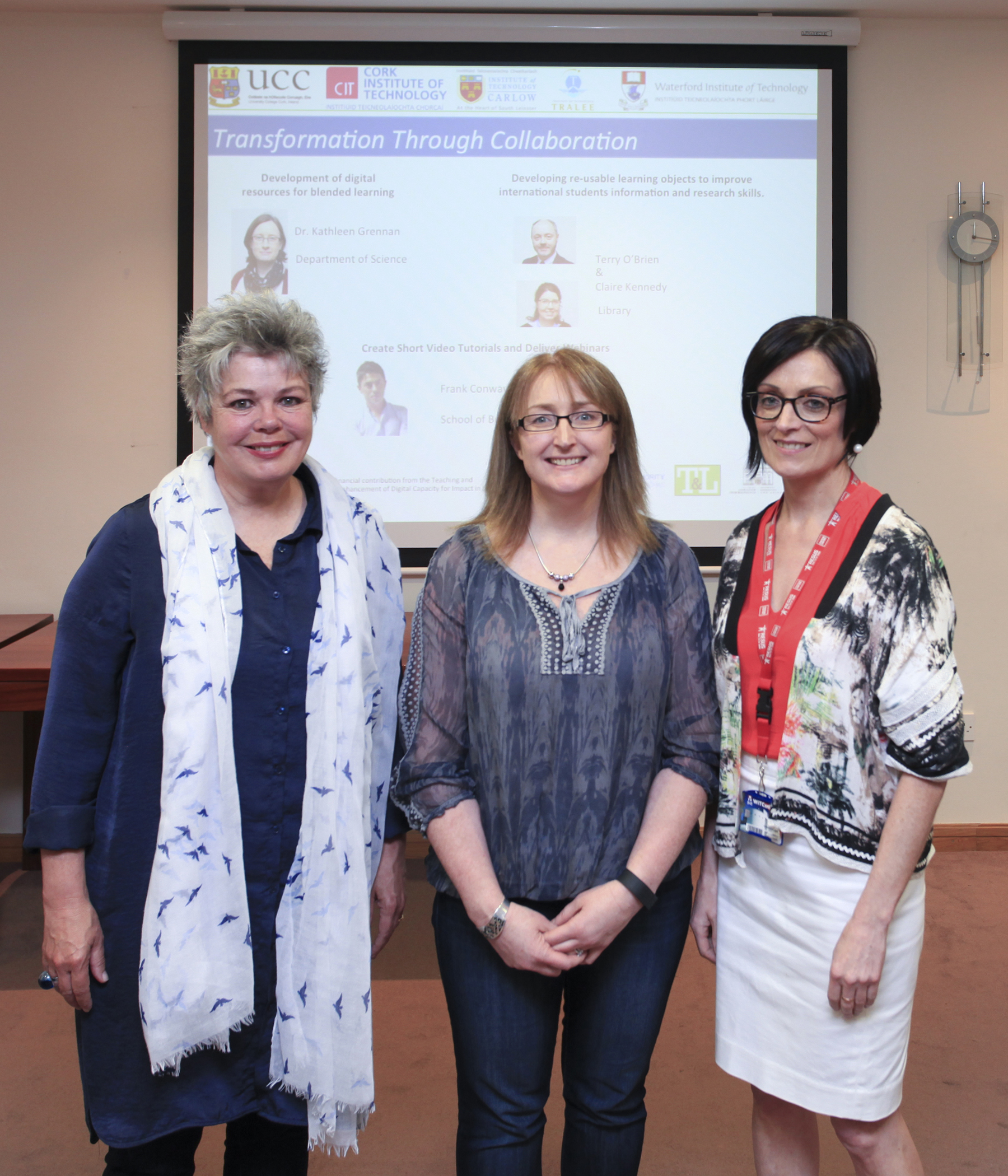 Pictured are three Digital Champions, Dr Aine Furlong, Dr Siobhan Drohan and Dr Catherine Madden who presented their projects to WIT staff in June.