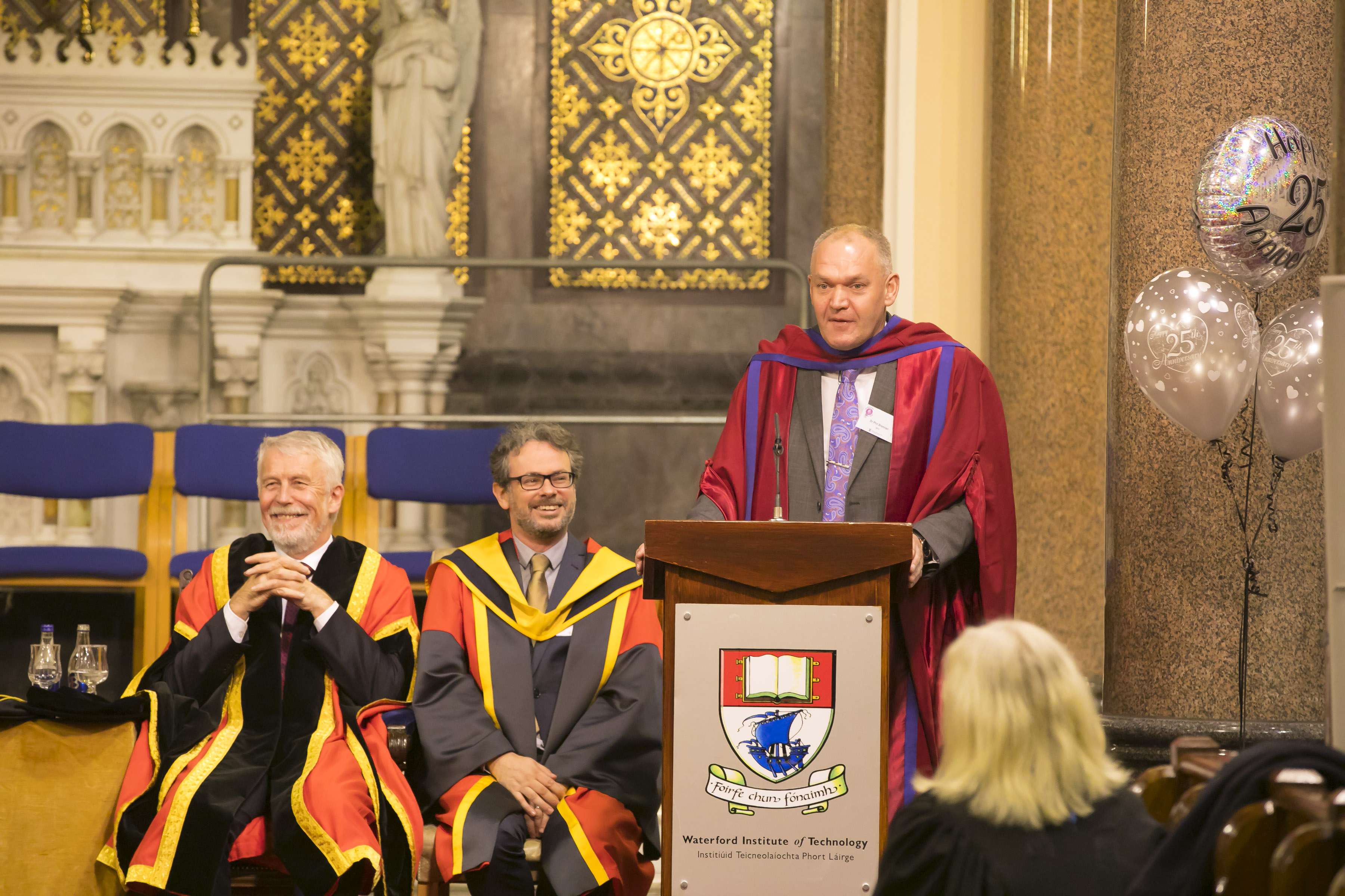 Dr Phil Brennan was invited to deliver one of the speeches at an event held to mark the WIT 25th anniversary of the first PhD award. Picture: Patrick Browne