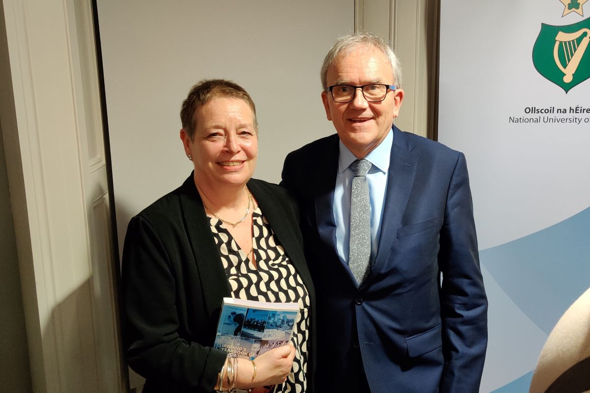 Pictured from left are: Dr Anne Graham Cagney, Senior Lecturer, Waterford Institute of Technology and Dr Brian Mooney, Managing Editor, Ireland's Yearbook of Education 2019-2020