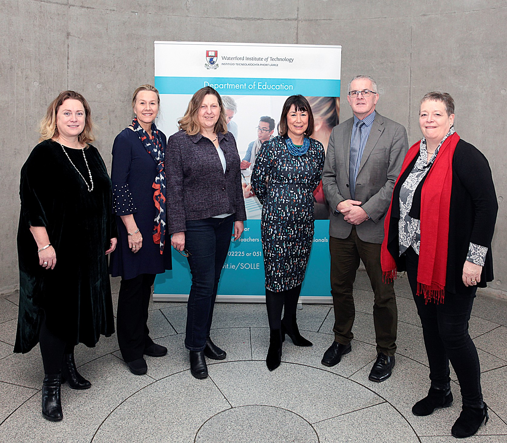 Pictured from left are: Dr. Mary Fenton, WIT, Dr. Leslie Cordie, Auburn University, USA; Professor Jackie Potter, Oxford Brookes University, U.K; Dr. Helen Murphy, WIT; Professor Paul Conway, University of Limerick; Dr. Anne Graham Cagney, WIT. Photo by: George Goulding.
