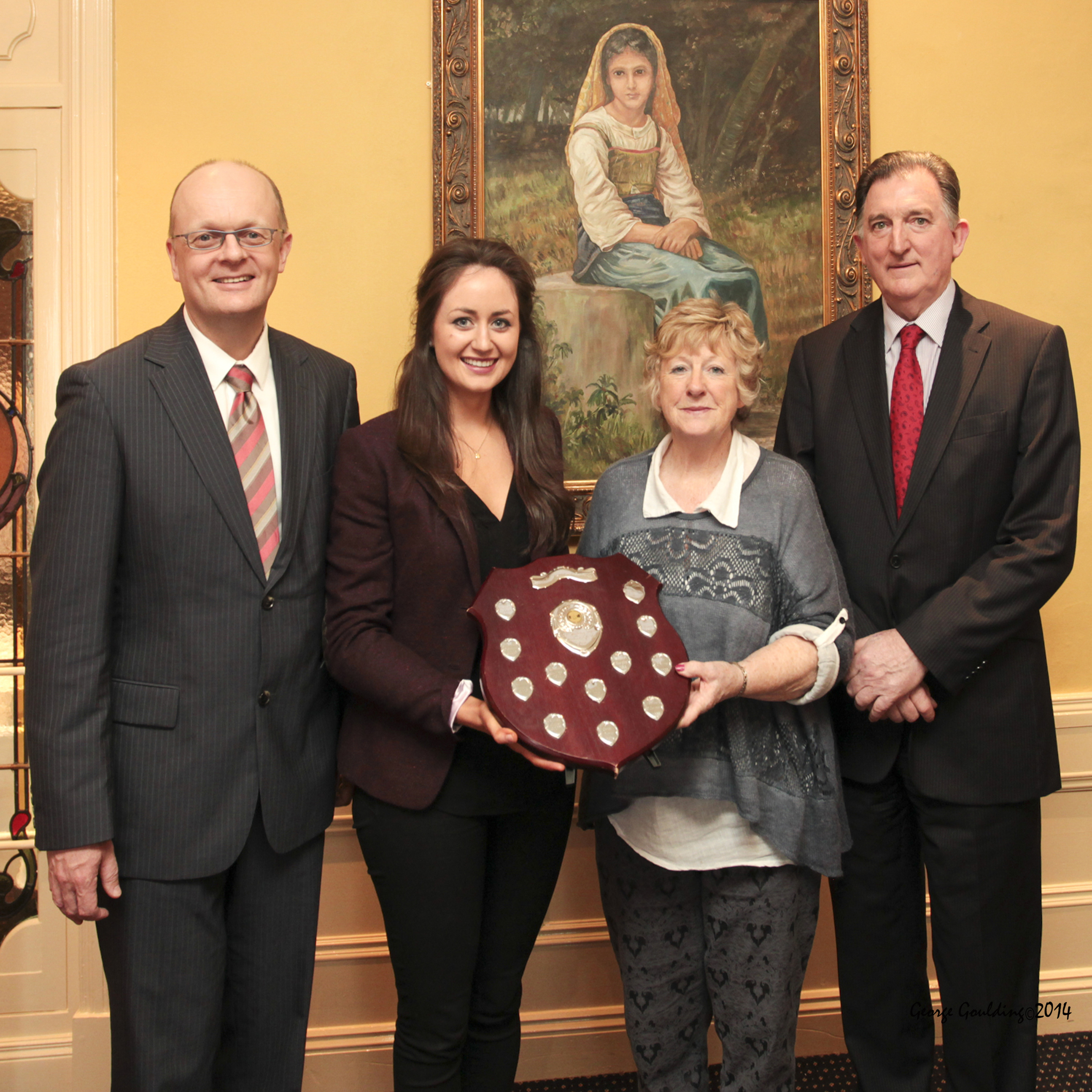 Dr Thomas O'Toole, Head of School of Business, Edwina McGrath, Award Winner, Ann & Liam Cusack, Granville Hotel Sponsor