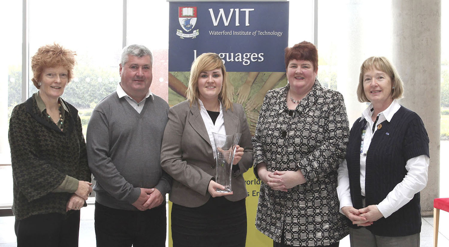 Pictured: Dr Fionnuala Kennedy, Lecturer in German and Intercultural Studies at WIT, Peter Roche, Eleanor Roche, Maria Roche and