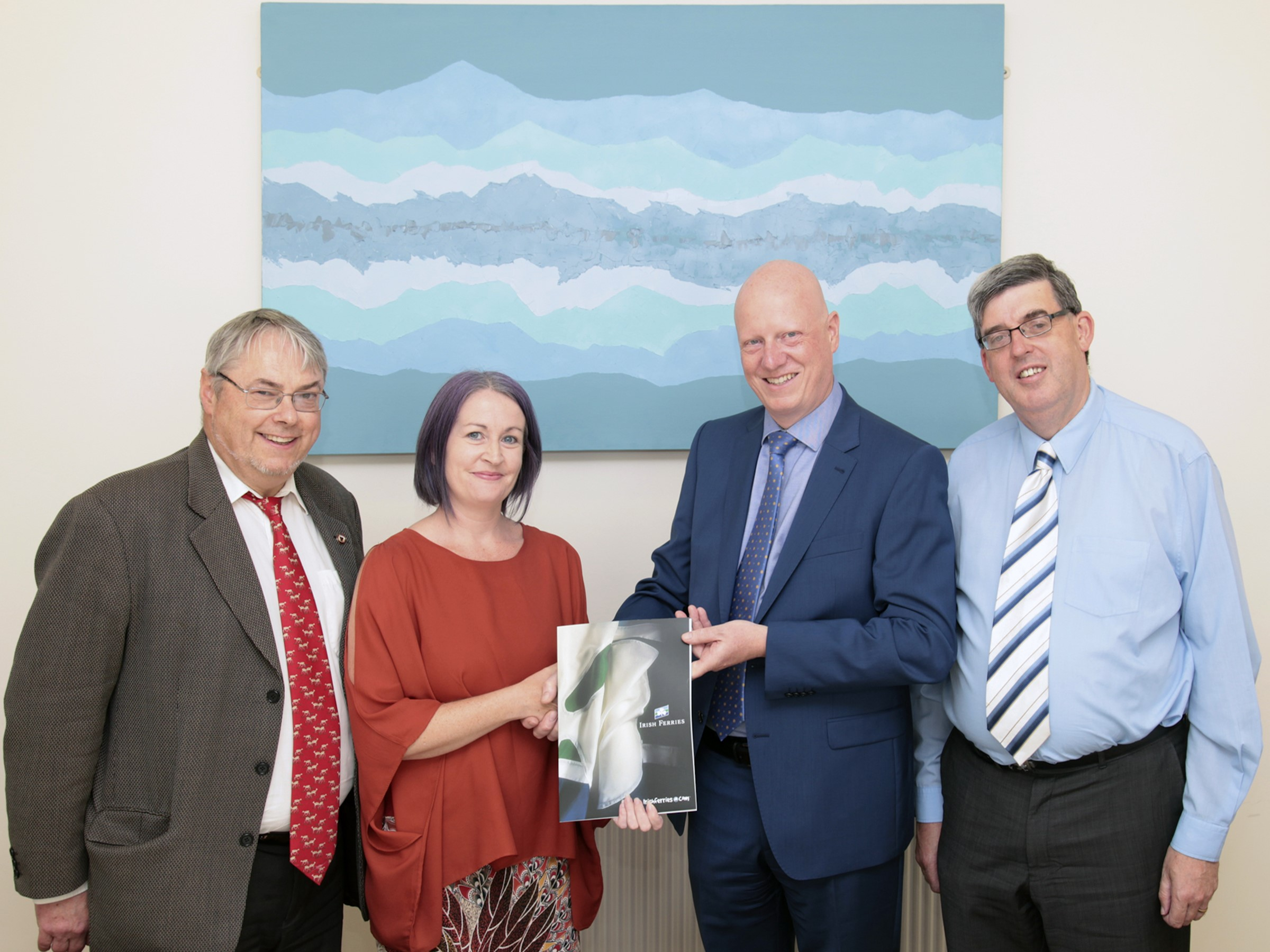 Mr John Maher, Finance lecturer WIT, Ms Elizabeth Reynolds from Waterford, Tom Corcoran, Company Secretary of Irish Continental Group ICG Plc and Mr Ger Long, Head of Department of Accounting & Economics. Photo courtesy of George Goulding