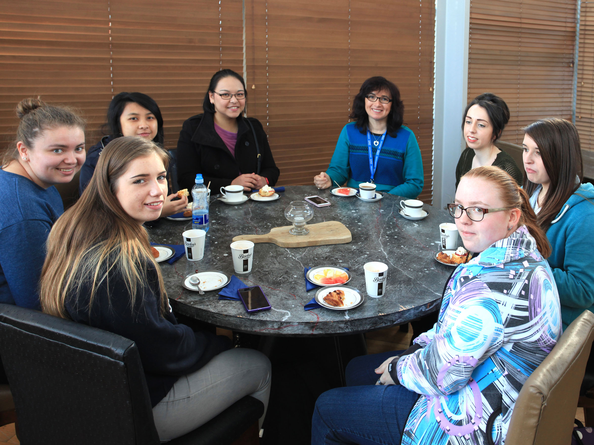 Pictured are a selection of students at regular women in engineering coffee mornings