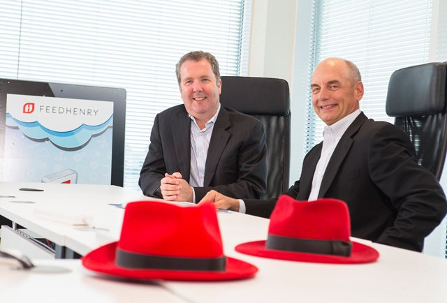 Pictured in 2014: Cathal McGloin, CEO of Feedhenry and Craig Muzilla, senior vice president, Application Platform Business, Red Hat
