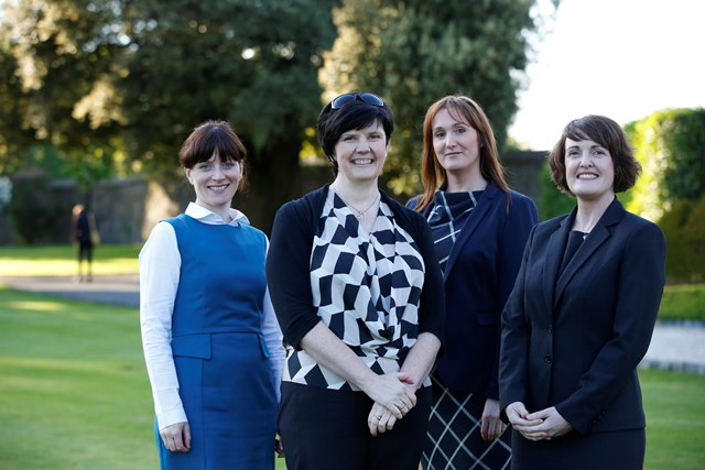 Olive O'Connor, Fulbright Scholar Felicity Kelliher, Leana Reinl and Siobhan Harkin