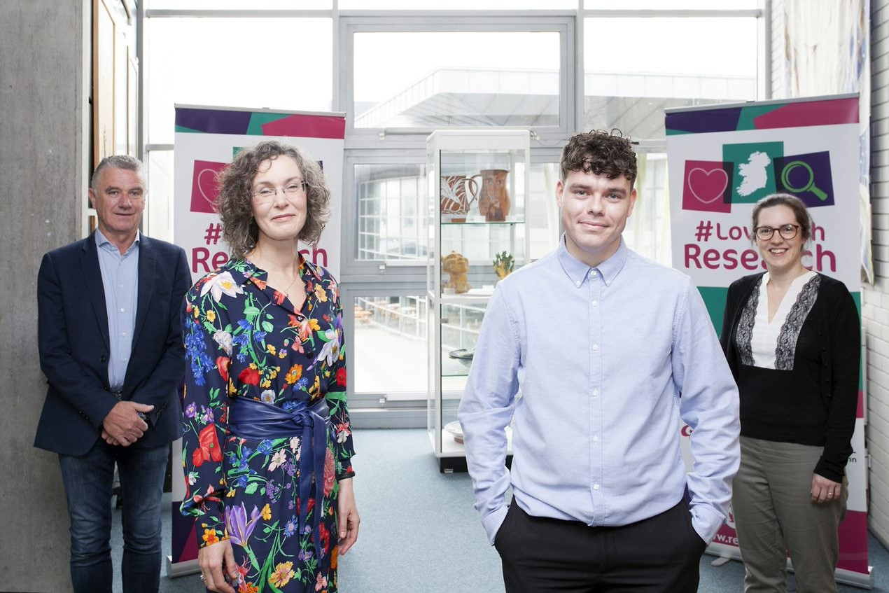Pictured from left are Dr Michael Bergin, Dr Úna Kealy, Aaron Kent, and Dr Kate McCarthy