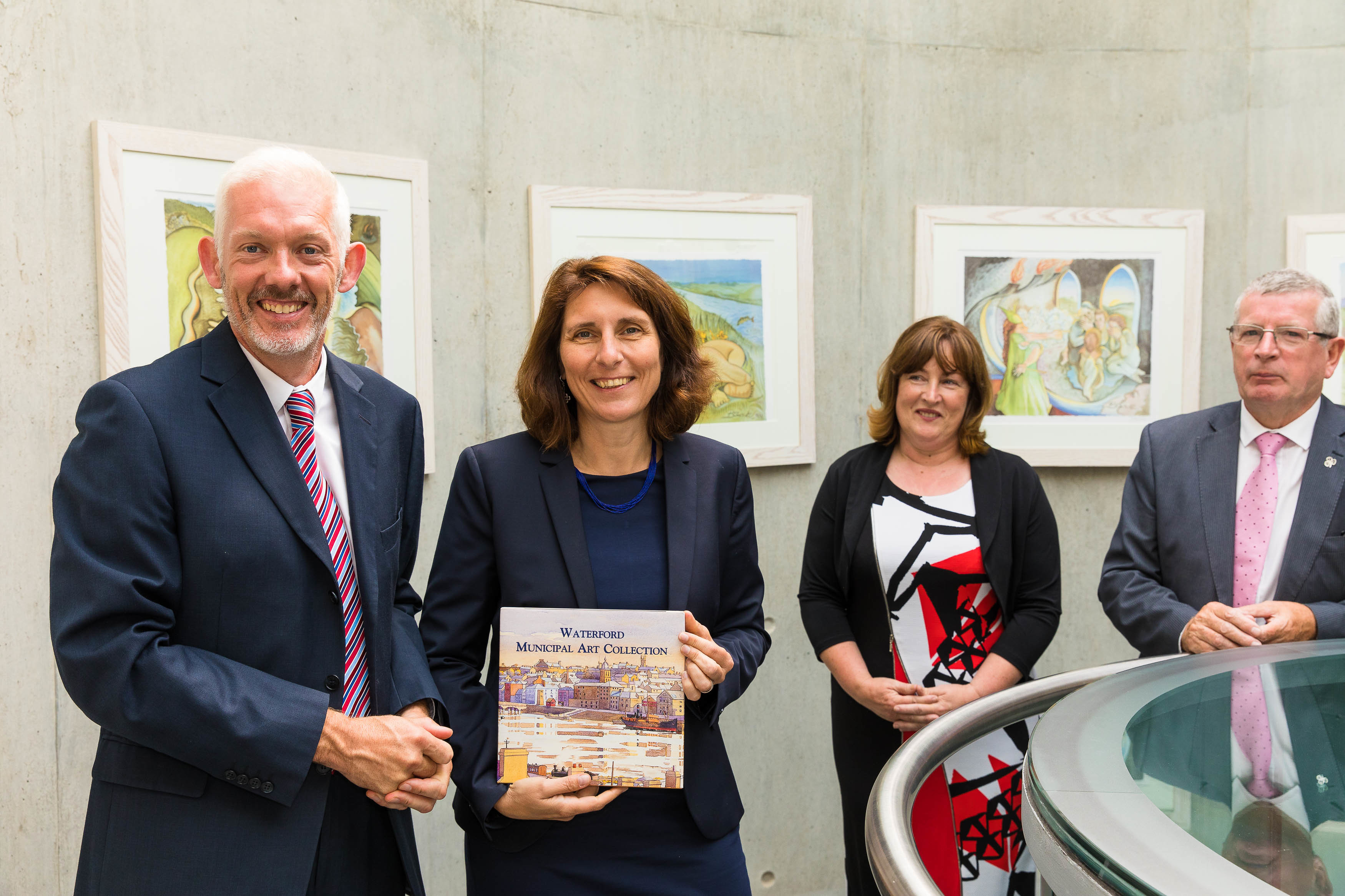 From left are: Vice President for Strategy Dr Richard Hayes, German Ambassador Deike Potzel, Head of the School of Humanities Dr Suzanne Denieffe, and Head of the Department of Languages, Tourism and Hospitality Ray Cullen. Photo: Ann Power, WIT