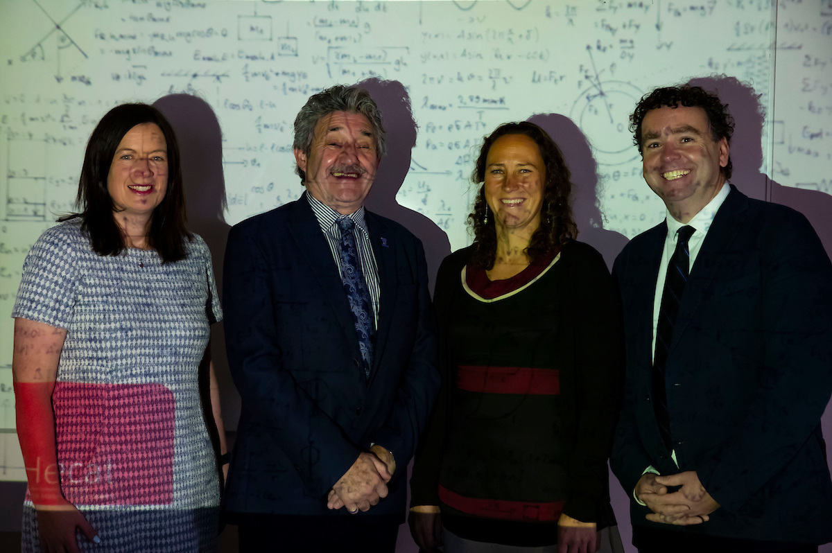 Dr Aisling Tuite Lecturer in Management WIT, John Halligan TD, Minister of State for Training, Skills, Innovation, Research and Development, Dr Zeta Dooley Lecturer in Education Technology, WIT, Dr Ray Griffin Lecturer in Strategy, WIT and HECAT PI. Photo: Patrick Browne