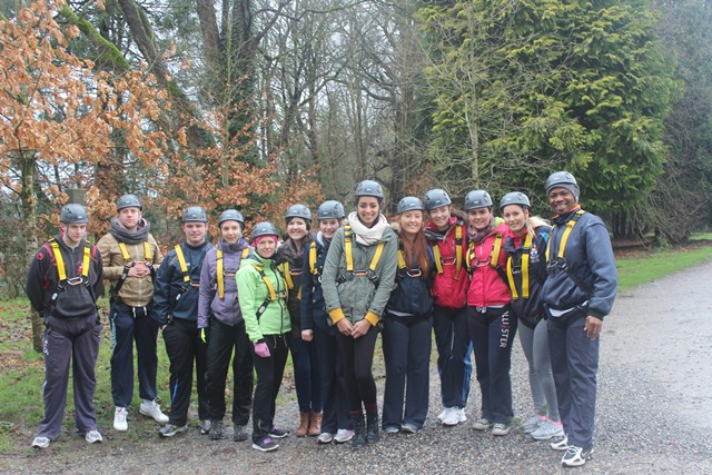 Students on the BA (Hons) in Health Promotion at a team building and active travel field trip to Kilkenny and Castlecomer Discovery Park