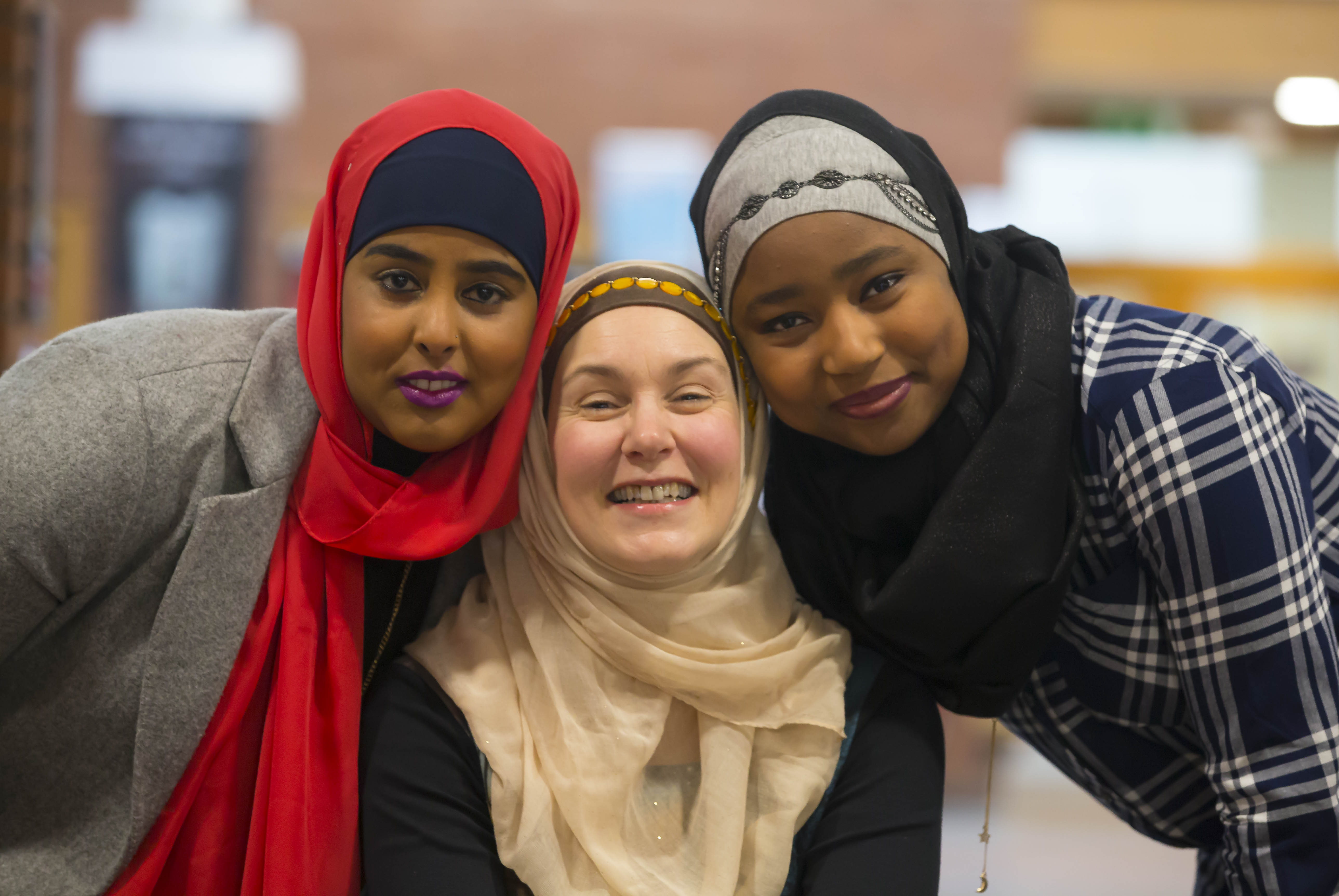 Women came together to celebrate World Hijab Day at WIT, to experience wearing the hijab and understanding the Muslim culture