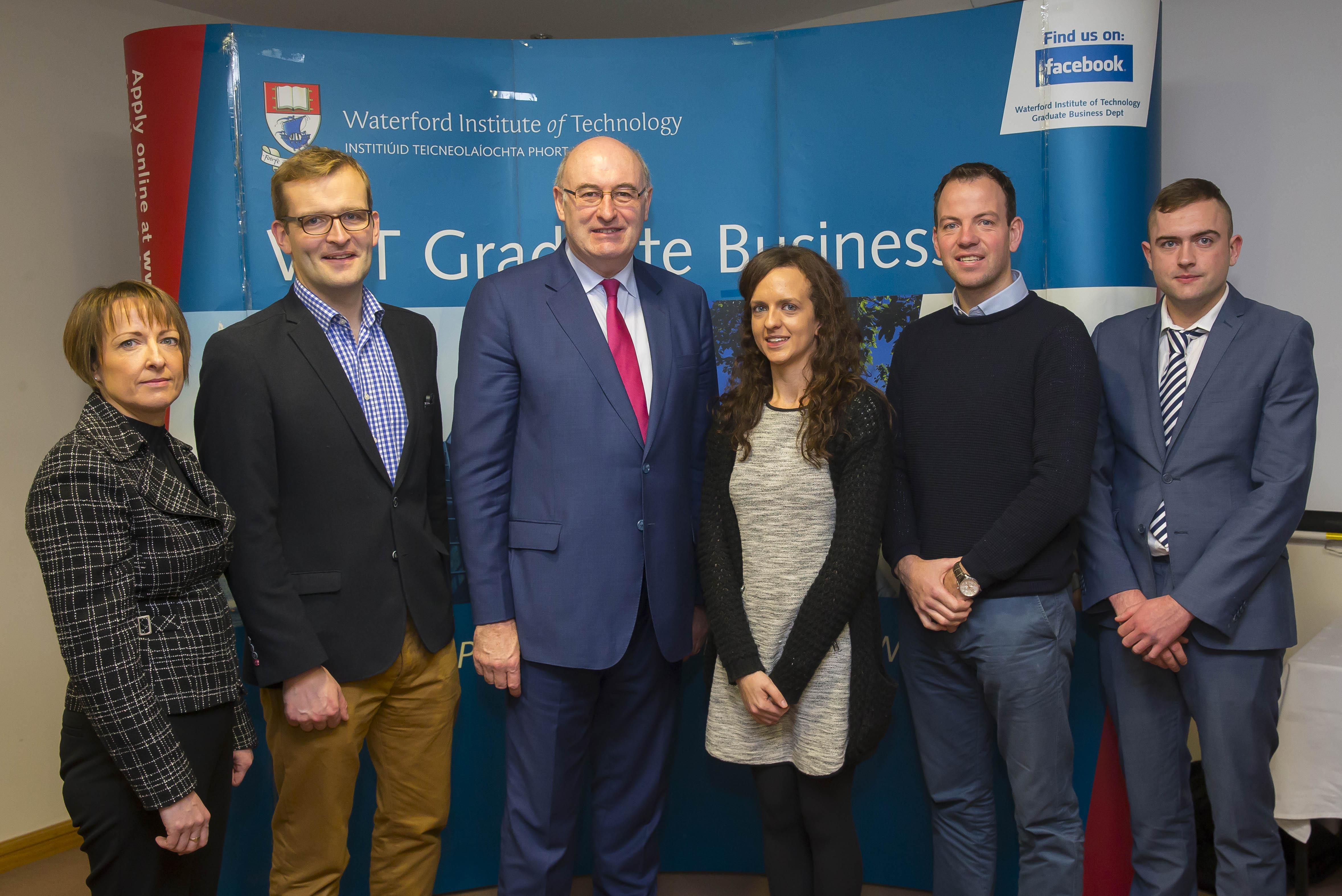 From left to right: Johanna Kavanagh,MBSI; John Paul Phelan, Commissioner Hogan, Ashling Kenny MBS, Conor Phelan MBS and Darren Healy, MBS